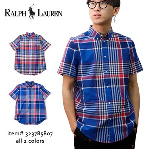 Flow POLO Boys Shirt Short Sleeve Men's Checkered Color Shirt
