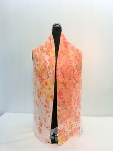 Scarf Silk Toyayanagi Flower Print Long Made in Japan Scarf
