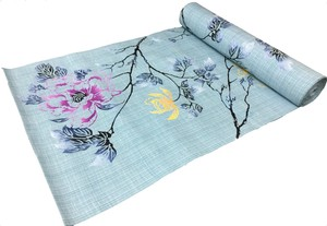 Japanese yukata fabric(flowers) blue