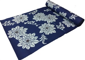 Japanese yukata fabric(dahlias) blue
