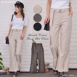 [ 2020NewItem ] Cotton Stretch Front Flare Pants