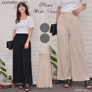 Stripe Elastic Waist Specification wide pants