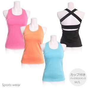 Sport Bag Closs Tank Top Top Cup Attached Water Absorption Fast-Drying