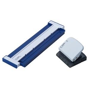 カール事務器 ルーズリーフパンチ ゲージパンチ ブルー A5対応20穴 穴あけ枚数5枚 GP-20-B