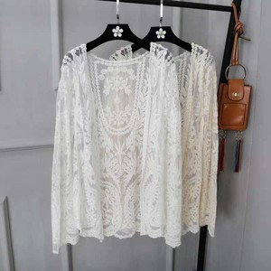 Lace Flower Outerwear Blouse