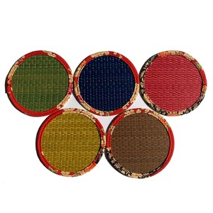Colorful Tatami Coasters with Japanese Pattern -Set of 5 pcs.