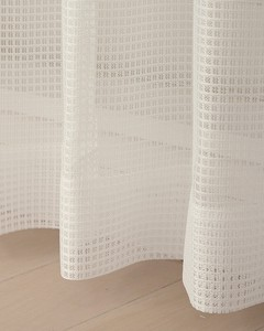 Mirror Lace Curtain Top White