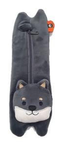 Black Soft Toy Pencil Case Shiba Dog