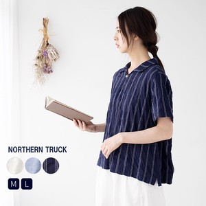 Rack Line Shirt Blouse Ladies Short Sleeve