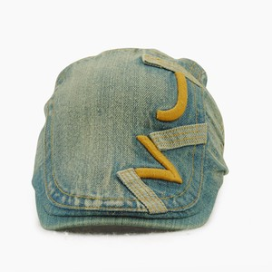 Denim Embroidery Casual Couple Beret