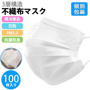 individual packaging Mask disposable Mask 10 Pcs 100 Bag