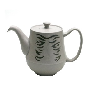"Coffee ""Tokoname ware"" Pot Gray ZEBRA Pot"