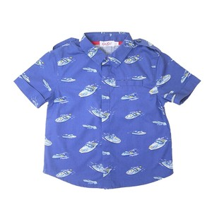 Cath Kidston シャツ KIDS SS SHIRT SPACED SUMMER BOAT 918558 105337216628197 ボーイズ 子供
