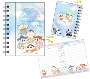 "Release ""Crayon Shin-chan"" Magnet Attached Ring Notebook Fluffy Crayon Blue"