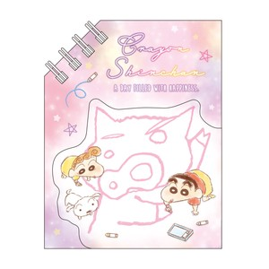"Release ""Crayon Shin-chan"" Magnet Attached Diagonal Ring Memo Fluffy Crayon"