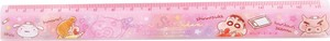 "Release ""Crayon Shin-chan"" 17cm Slim Ruler Fluffy Crayon Pink"