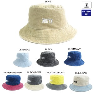 Bio Wash Brooklyn Embroidery BUCKET HAT