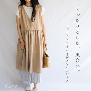 """2020 New Item"" Cotton/hemp One-piece Dress"