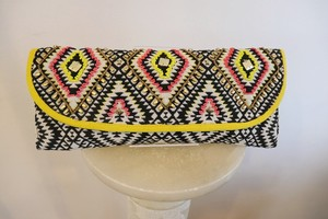 Geometry Beads Clutch Bag YELLOW