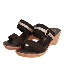Ring Belt Attached Edge Heel Sandal