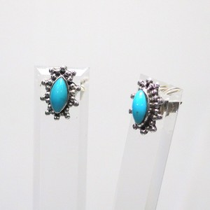 Silver 925 Natural Turquoise Pierced Earring Silver Pierced Earring