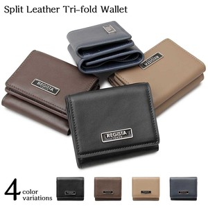 Leather Compact Wallet Trifold Wallet