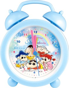 """Crayon Shin-chan"" Objects and Ornaments Ornament Clock Fluffy Crayon Blue"