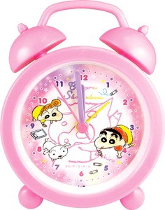 """Crayon Shin-chan"" Objects and Ornaments Ornament Clock Fluffy Crayon Pink"