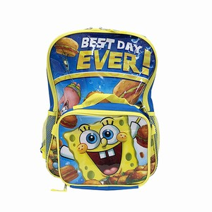 Sponge Bob Backpack Lunch Bag Attached