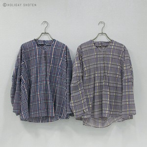One Hand Blouse Checkered