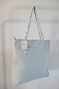 Mark Down Dhangarhi Embroidery Tote Bag Embroidery WHITE BLUE