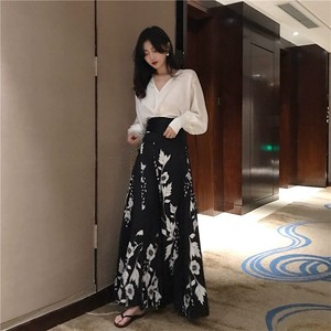 [ 2020NewItem ] Print Long Skirt