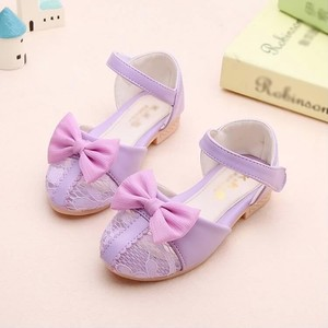 Ribbon Attached Lace Sandal Girl Sandal Formal Shoes Bride Girl
