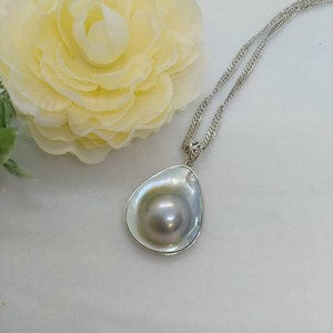 Pearl Silver Screw Chain Necklace