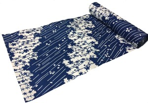 Japanese yukata fabric(cherry blossom petals)(Special uneven fabric)