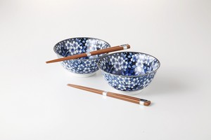 SOMETSUKE Series Donburi Bowl Pair