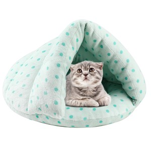 Cat Bed Pet Sleeping Bag Heat Retention Washable Dome Cat House