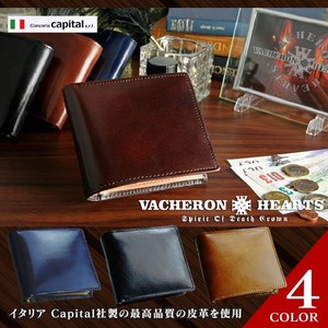 Clamshell Wallet Men's Men Men's Genuine Leather Brand Wallet Cow Leather