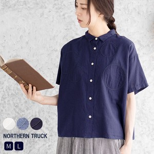 Rack Dot Shirt Blouse Ladies Short Sleeve