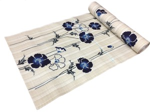 Japanese yukata fabric(flowers)(Special brown fabric)