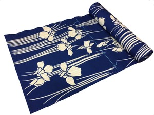 Japanese yukata fabric(irises)(Special brown fabric)
