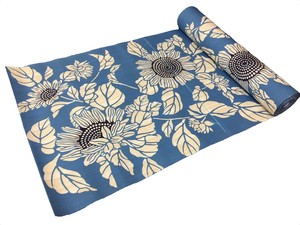 Japanese yukata fabric(sunflowers)(Special brown fabric)