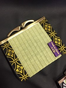 Tatami Purse with a metal clasp