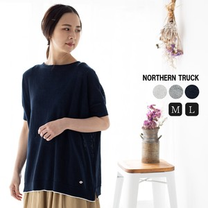 Rack Attached Wide Summer Knitted Ladies Short Sleeve Crew Neck