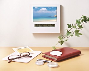 Photo Frame Clock Stand Wall Hanging Product Unisex