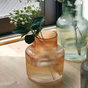 GLASS Line Flower Vase Wide