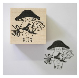 Stamp Penchant Mushrooms Cat Thank You