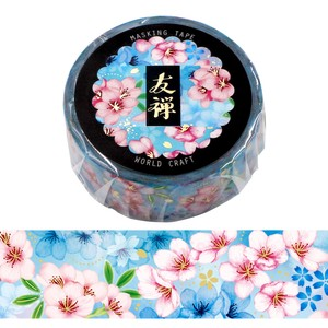 Yuzen Washi Tape Sakura Wrapping Decoration Letter Gold Leaf Flower Gift