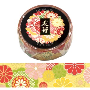 Yuzen Washi Tape Kimono Yuzen Chiyogami Wrapping Decoration Flower Gift