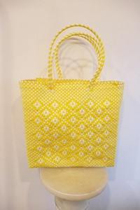 Luca Bag Geometry Hand Knitting YELLOW